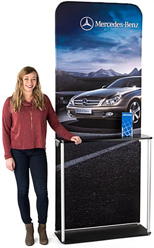 Trade Show Banner Kiosk with Steel Base