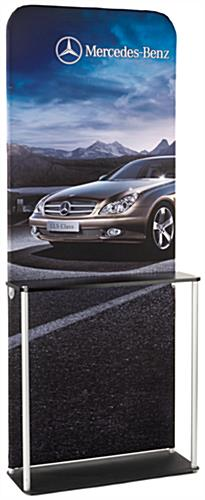 Banner Frame Kiosk with MDF Counter