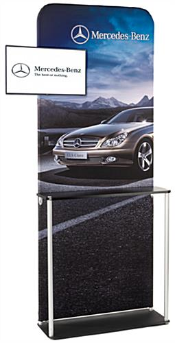 TV Mount Trade Show Kiosk with MDF Counter