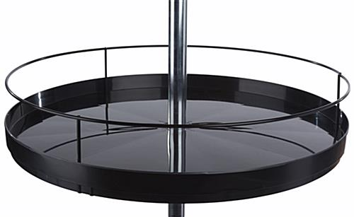 Spinning Tray Display Stand with Adjustable Tiers