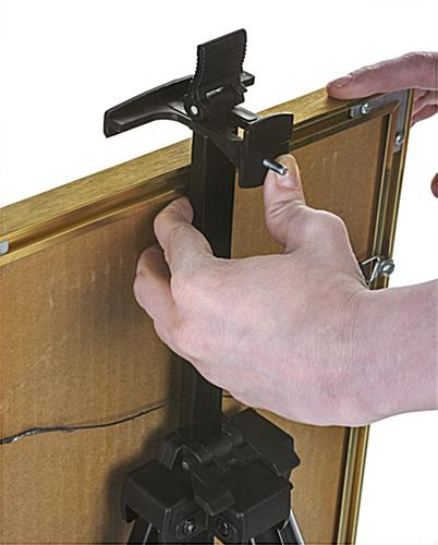 Black Telescoping Easel With Adjustable Clamps