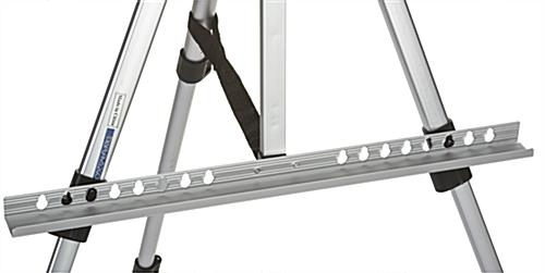 Silver Telescoping Easel with Adjustable Bar