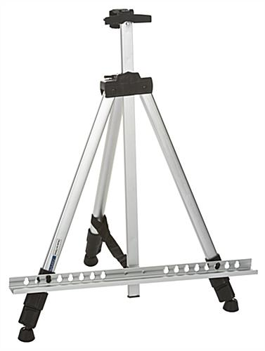Height Adjustable Silver Telescoping Easel