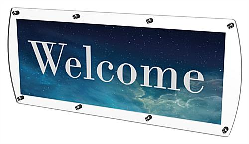 Customizable Door Sign Made of Clear Acrylic