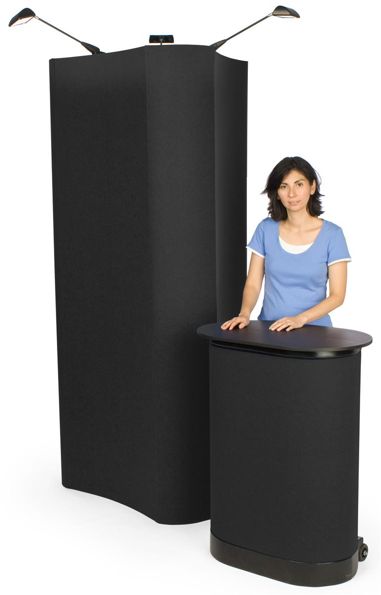 Trade Show Booth Loop : Trade show displays sided w fabric spotlights case