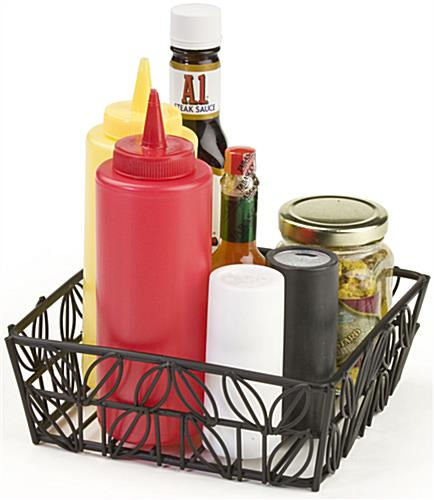 "Condiment Baskets Measure 7-1/8""w x 2-1/2""h"