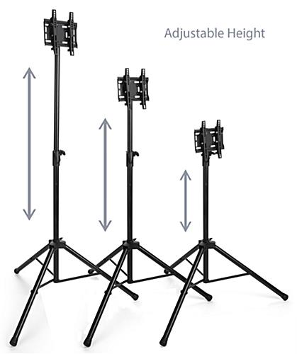 TV tripod mount with 5 height settings