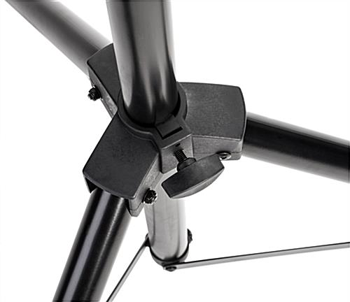 TV tripod mount with tool-free height adjustment knob