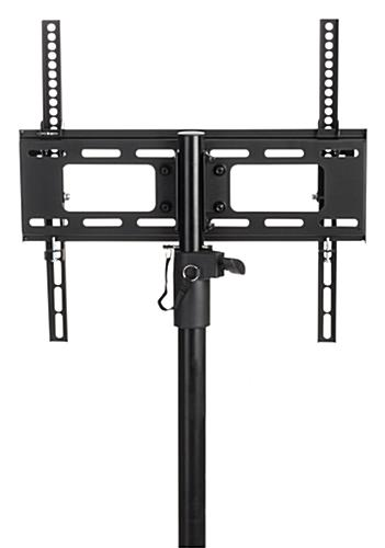 Universal bracket included with portable TV stand with tripod legs