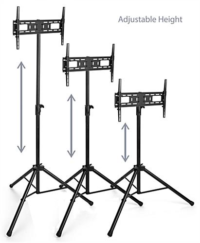 Flat screen TV tripod stand with 5 height settings