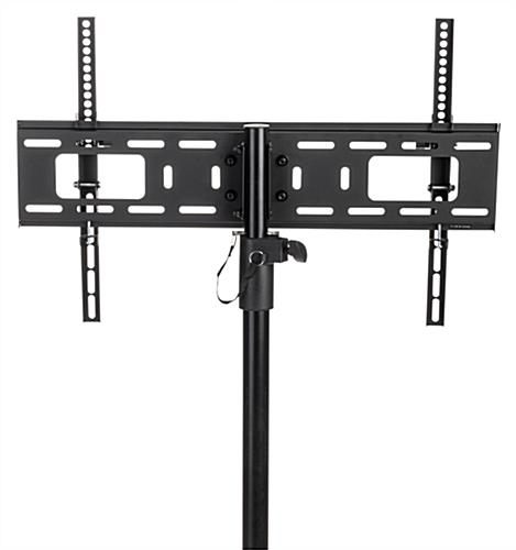 Universal bracket included with flat screen TV tripod stand
