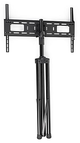 Flat screen TV tripod stand with collapsable legs