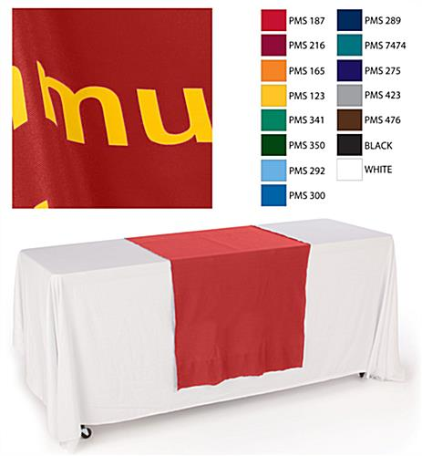 red table runners