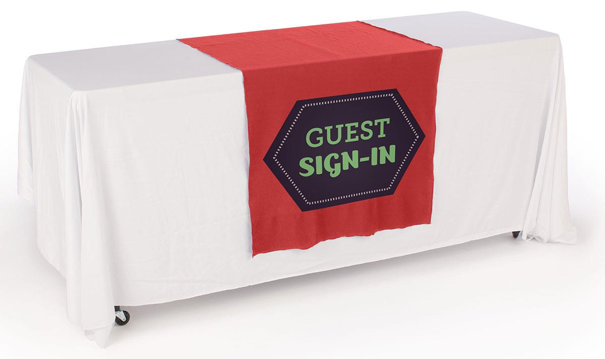Custom Tablecloths Red Polyester With Custom Logo