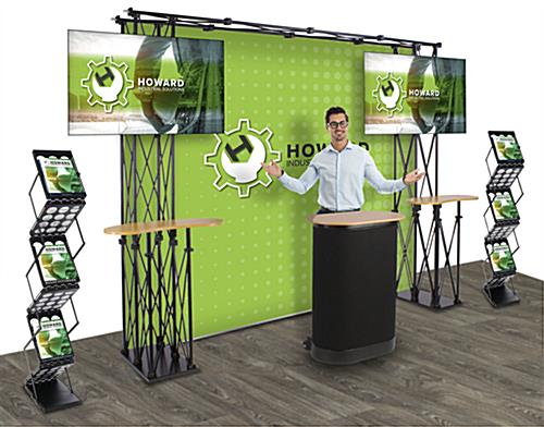 Truss trade show display with custom printed graphics