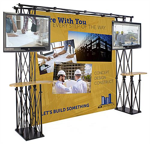 Truss Trade Show Booth Backdrop shown with Custom Graphics