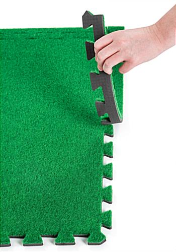 Soft turf carpet tiles with many configuration possibilities