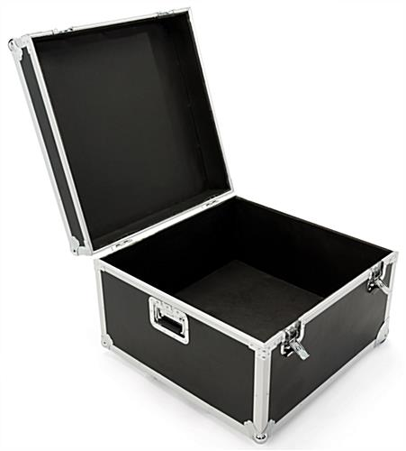 Black trade show floor tile carrying case
