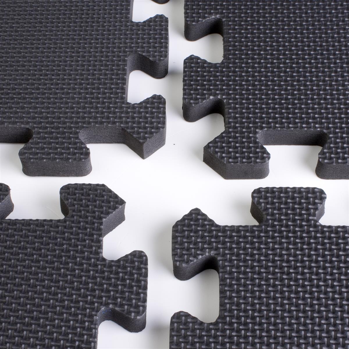 Black Foam Trade Show Flooring Puzzle Piece Floor Mats