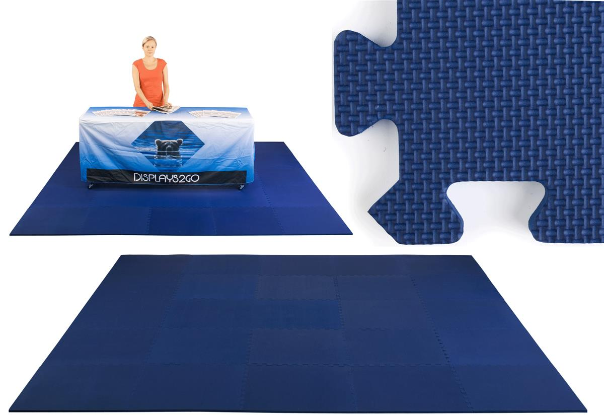 Trade Show Floor Easy Install Navy Blue 10 X 10 Foam Mat