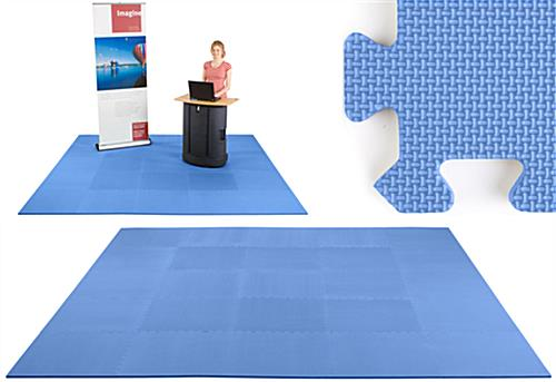 Cushioned 10x10 Trade Show Floor Kit 25 Royal Blue Tiles