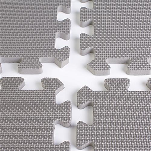 X Portable Floor Charcoal Grey - Black and white interlocking floor mats