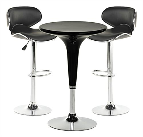 Genial Chrome Pub Table Set ...
