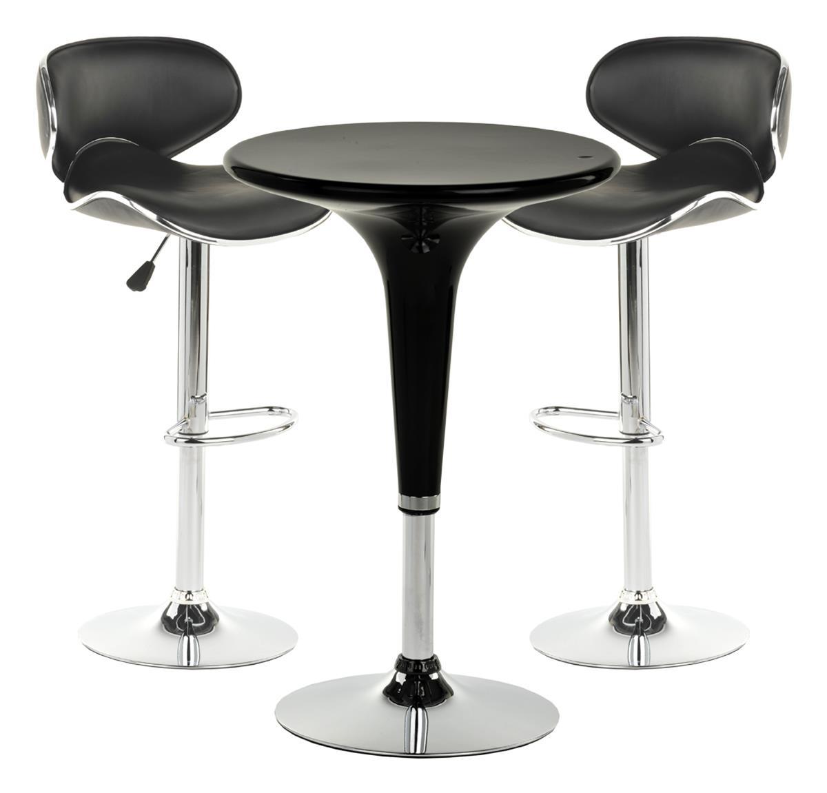 sc 1 st  Displays2go & Chrome Pub Table Set | Modern Furniture with A Retro Charm