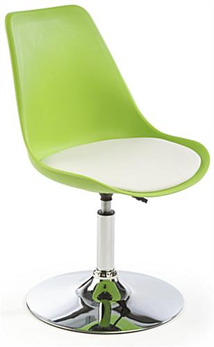 White Bar Lounge Chair and Table is Height Adjustable