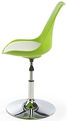 White Bar Lounge Chair and Table, Backrest for Support