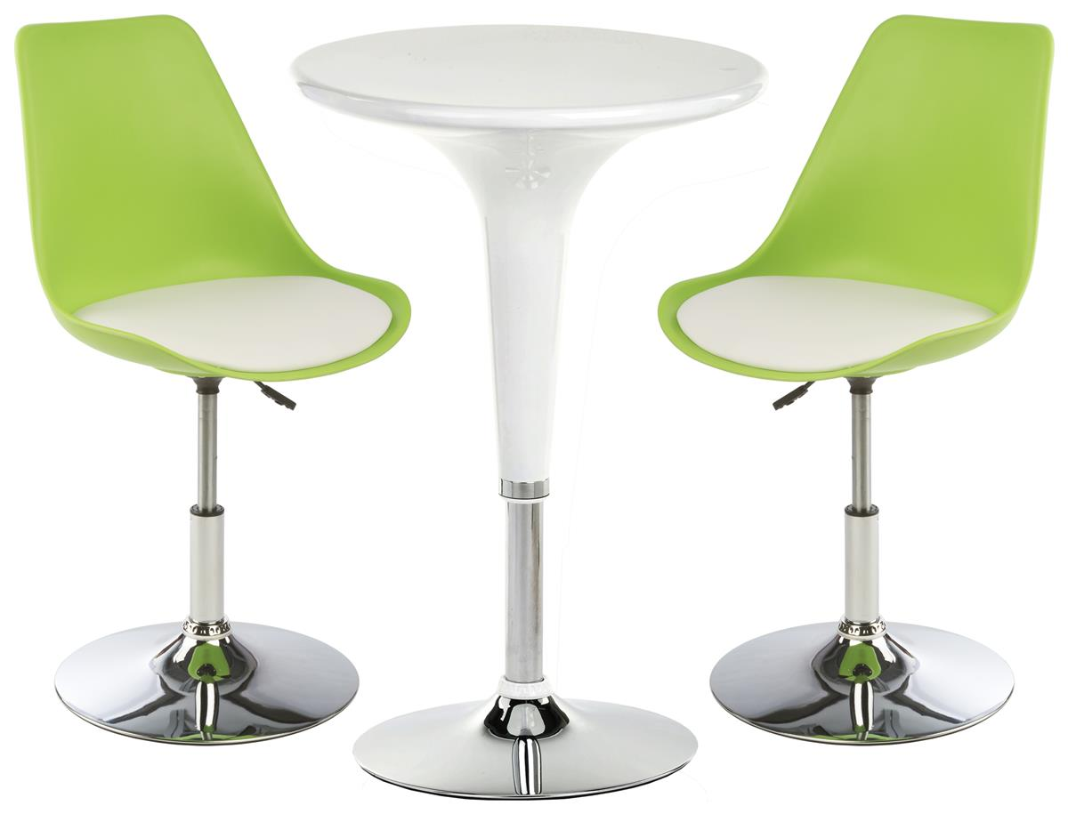 White Bar Lounge Chair And Table Includes 2 Leatherette Seats