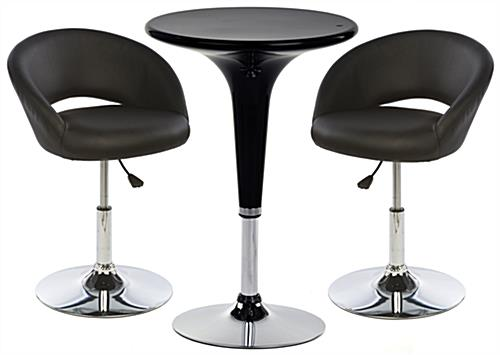 Bar Lounge Chair and Table Set, Rotating Pieces