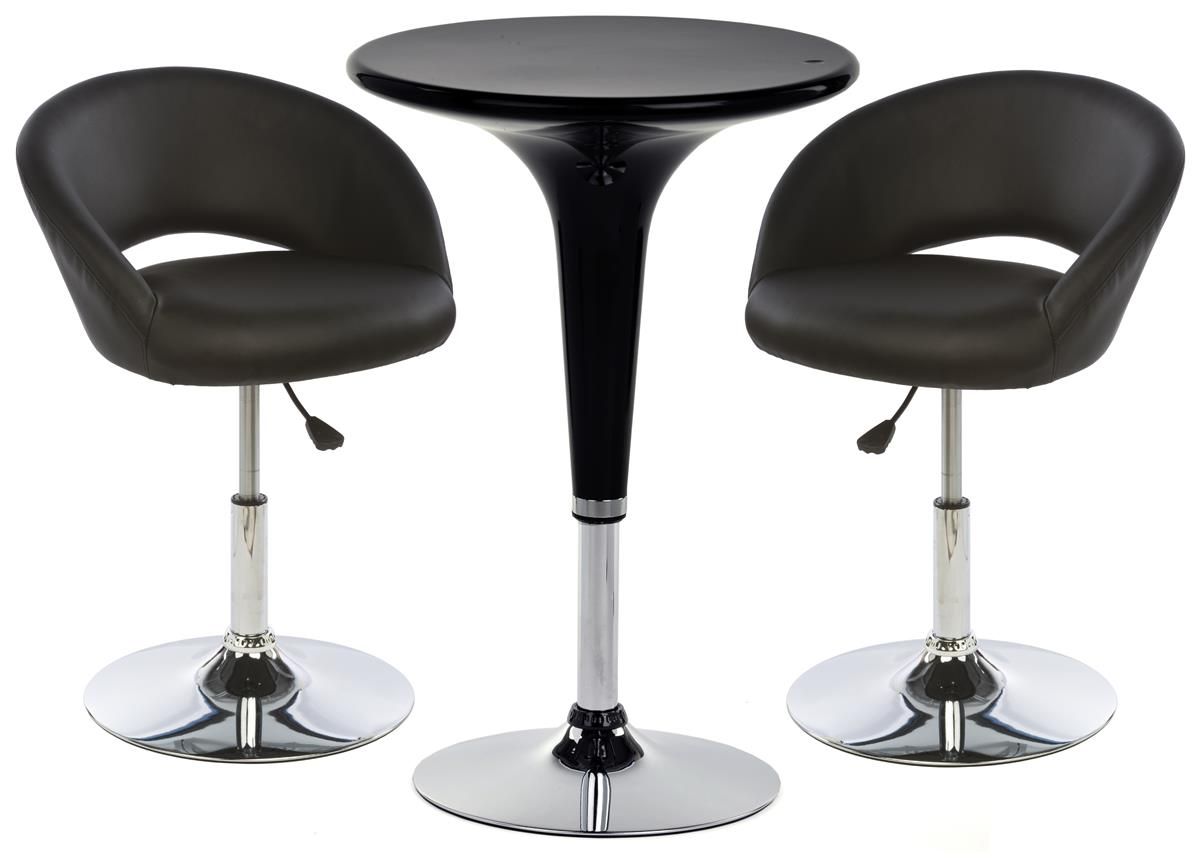 Bar Lounge Chair And Table Set 2 Cushioned Stools Included