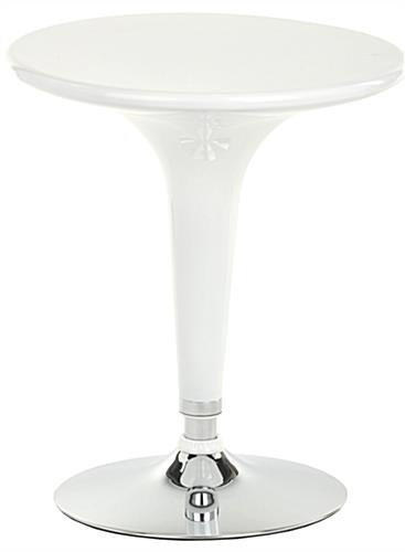White Trade Show Table & Stool Set for Conferences and Meetings