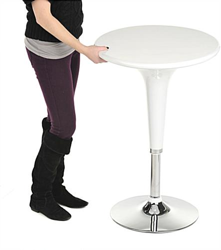 White Trade Show Table & Stool Set, 3 Pieces