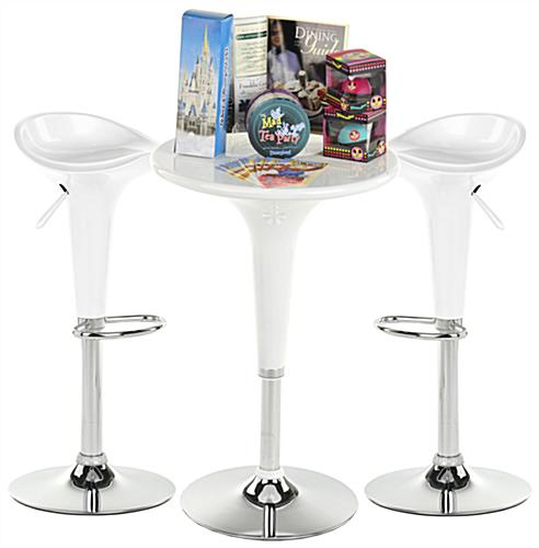 WhiteTrade Show Table & Stool Set for Conventions