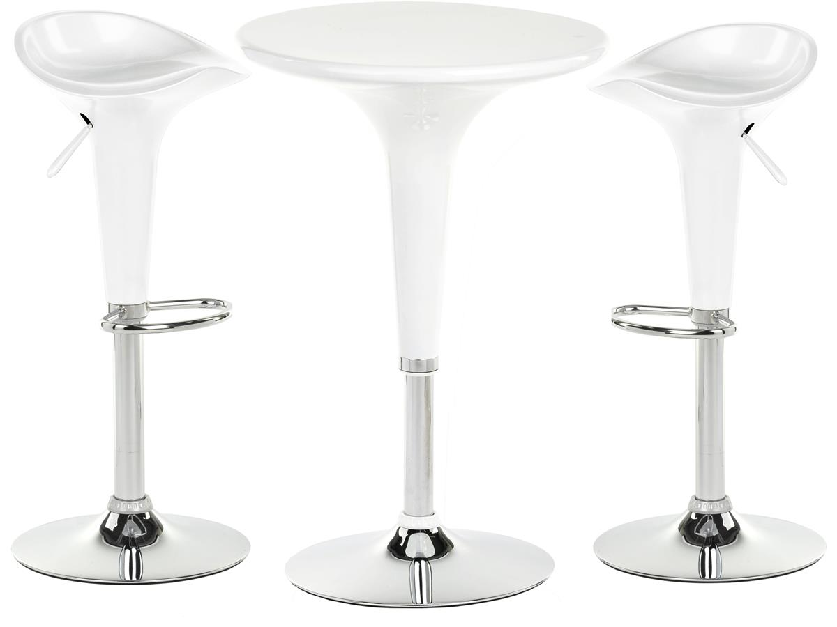 White Trade Show Table Amp Stool Set Height Adjustable