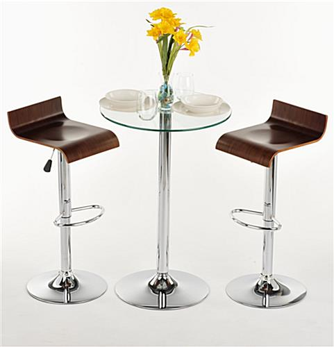 Glass High Top Table And Chairs Modern Furniture For Dining