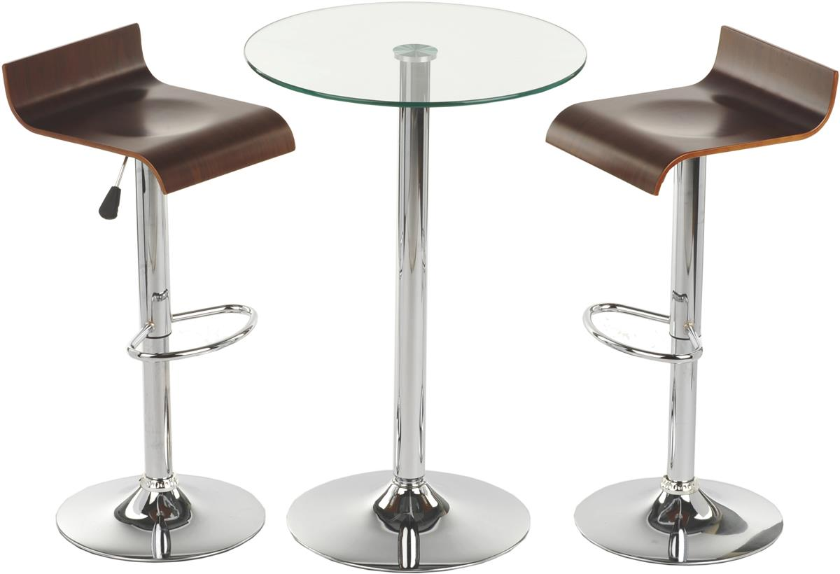 Glass high top table and chairs modern furniture for dining for High chair dining table set
