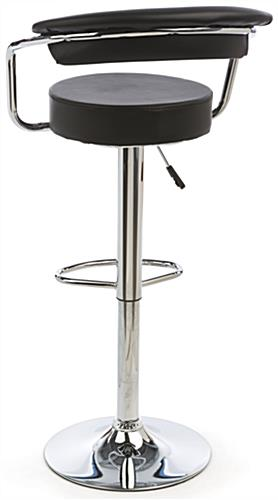 Black Hydraulic Bar Stool and Table Set with Backrest