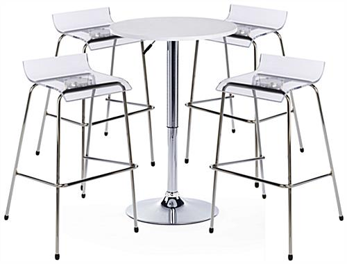White Bar Table and Chair Set, All-In-One Collection