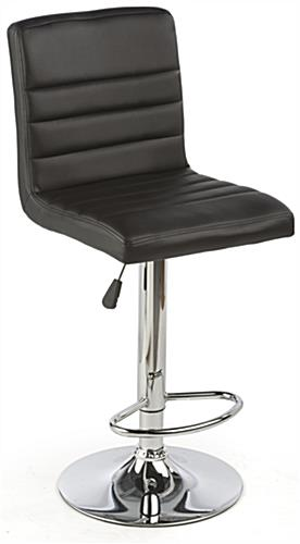 Black Gas Lift Chair and Table Set, Height Adjustable