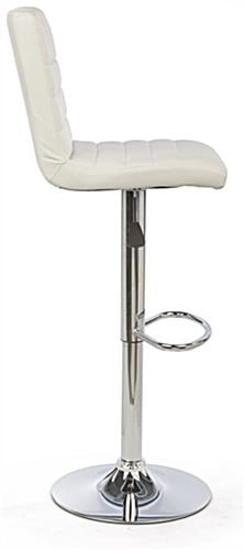 White Gas Lift Chair and Table Set, High Backrest for Comfort