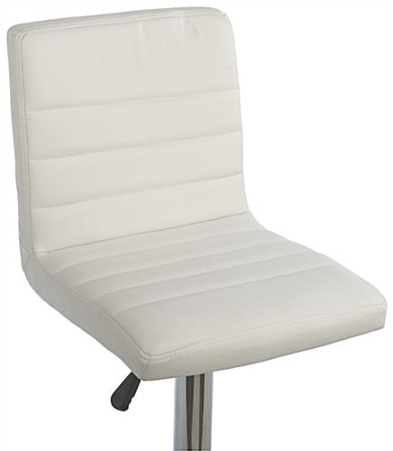 White Gas Lift Chair and Table Set, Rotating