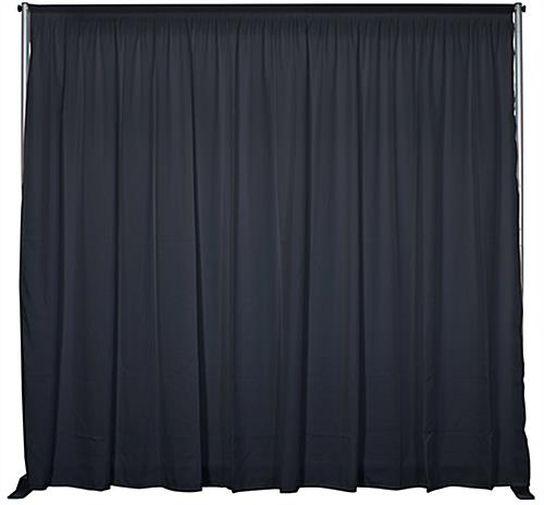 Inline exhibit booth kit with pipe and drape backdrop