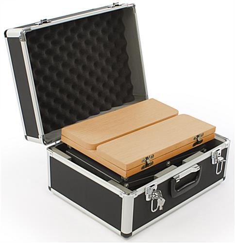 Inline exhibit booth kit with hard travel case