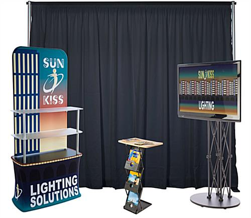 Inline exhibit booth kit with large format graphics