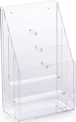 Modern exhibit display furniture set with literature rack