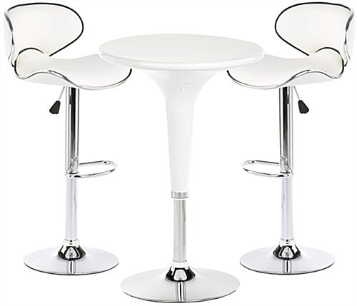 Modern exhibit display furniture set with table and 2 chairs