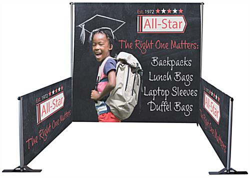 Custom pipe and drape booth kit with fabric backdrop & side walls
